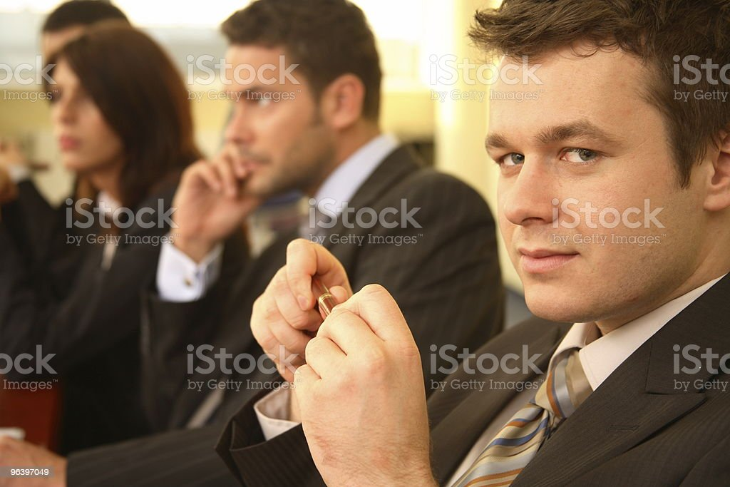 four business persons at a Conference royalty-free stock photo