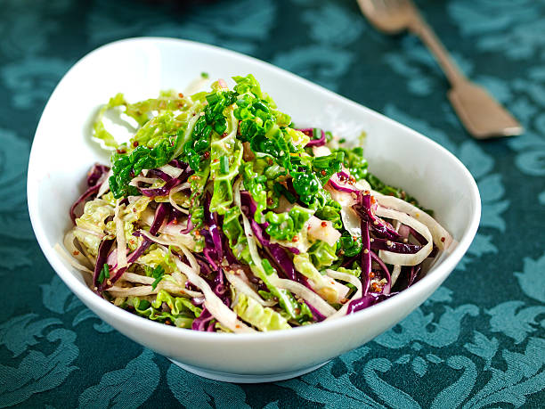 Four cabbage coleslaw stock photo