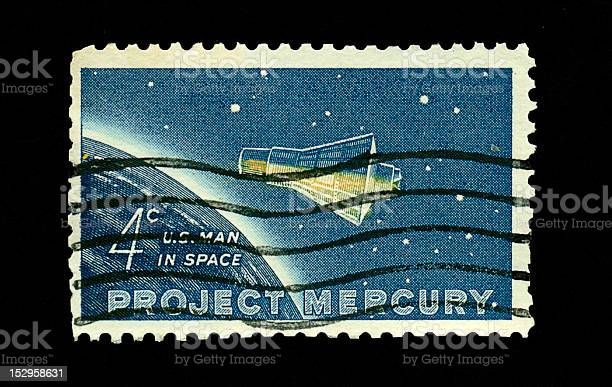 Four Cent Man in Space Stamp