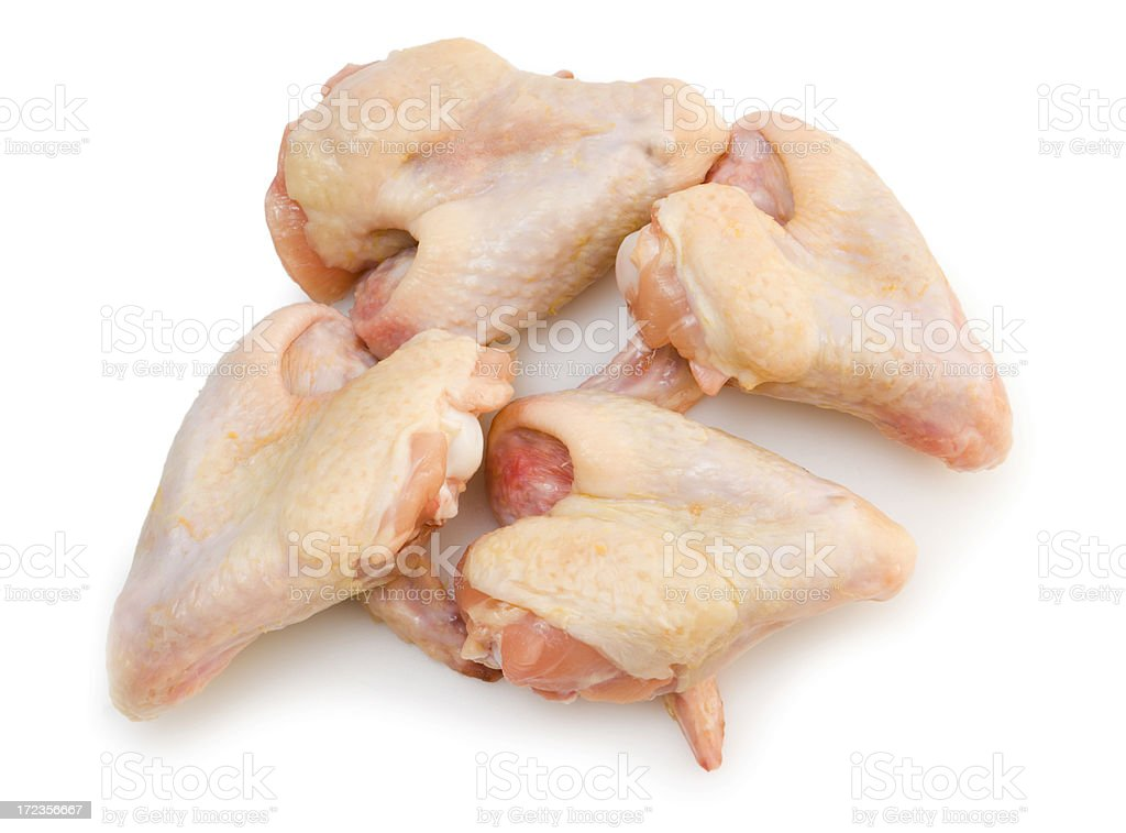Four Chicken Wings royalty-free stock photo