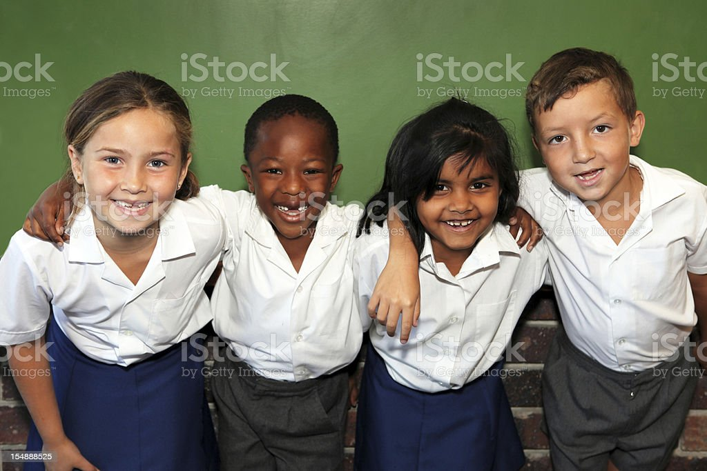 Four children royalty-free stock photo