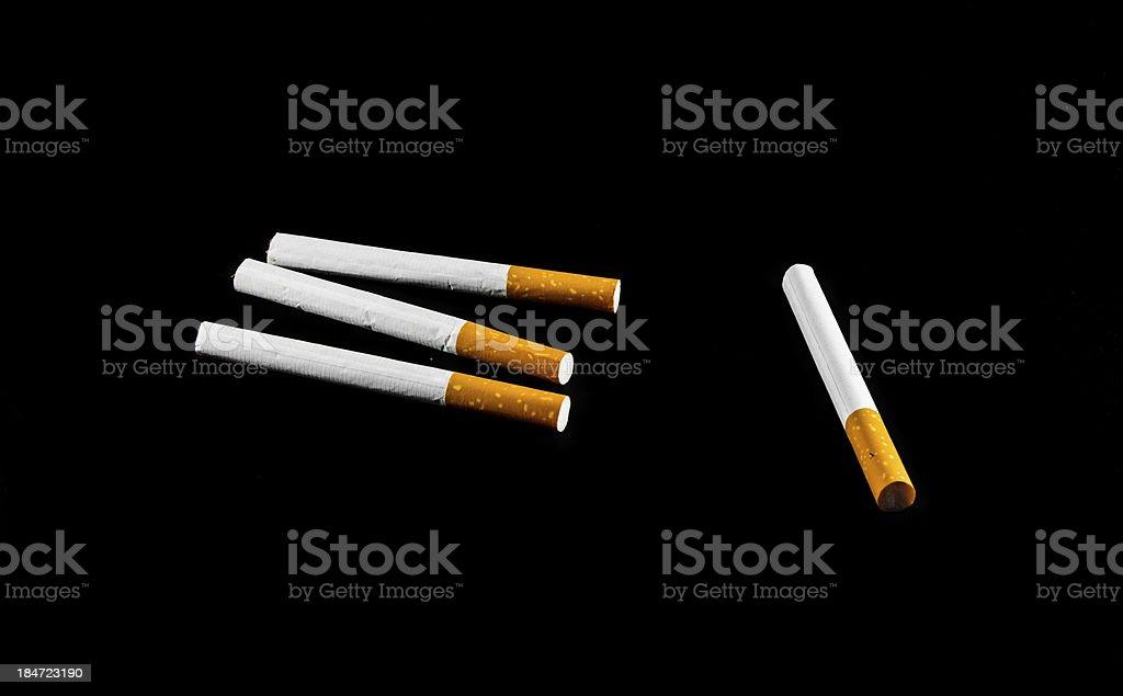 four cigarette royalty-free stock photo