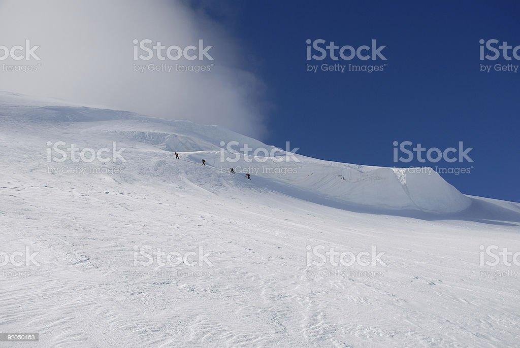 Four climber  trekking. royalty-free stock photo