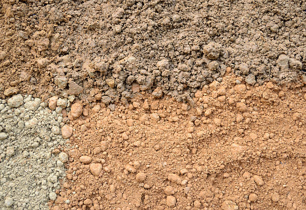 Four color soil background stock photo
