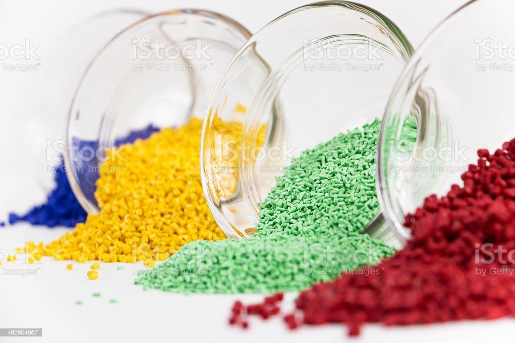 Vier bunten Kunststoff Resin mehreren - Lizenzfrei Arbeiten Stock-Foto