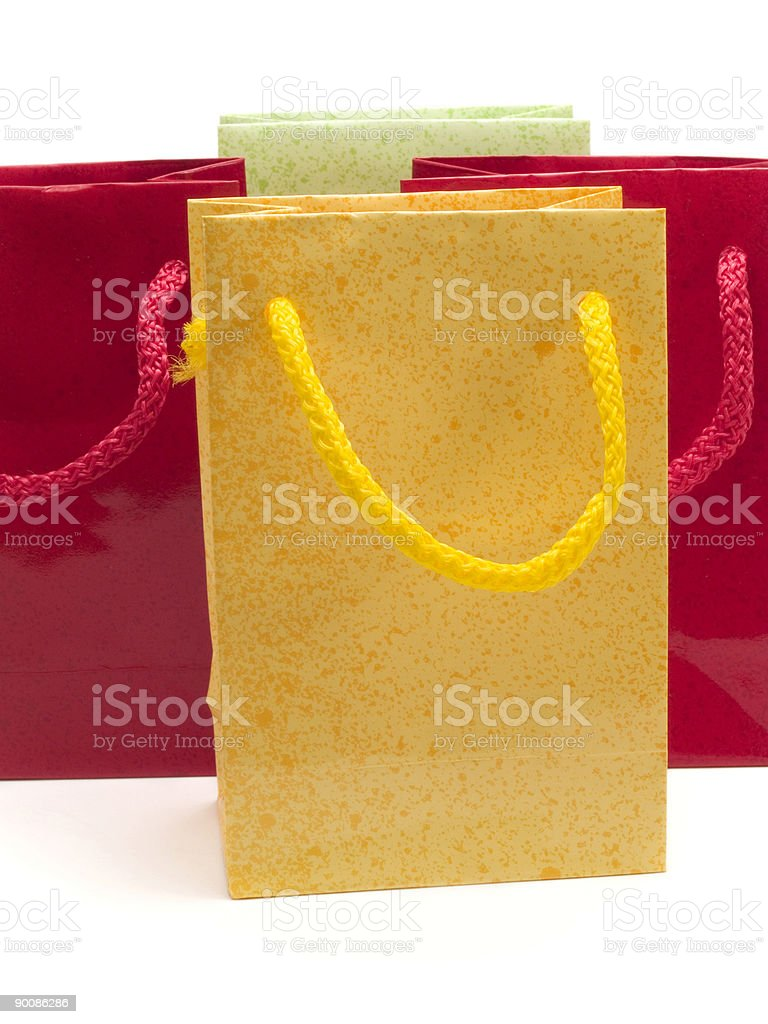 Four colorful presents royalty-free stock photo