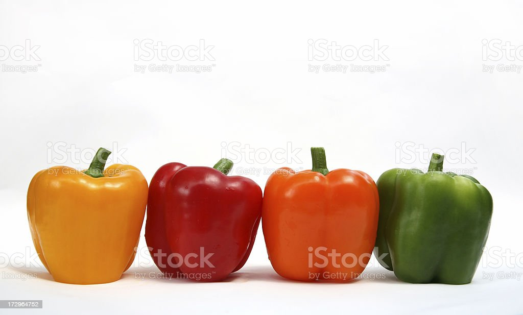 four colors of pepper royalty-free stock photo