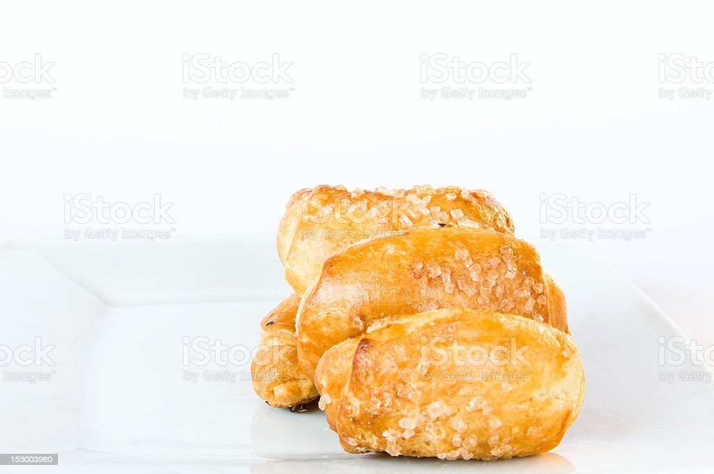Four cookies on isolating background stock photo