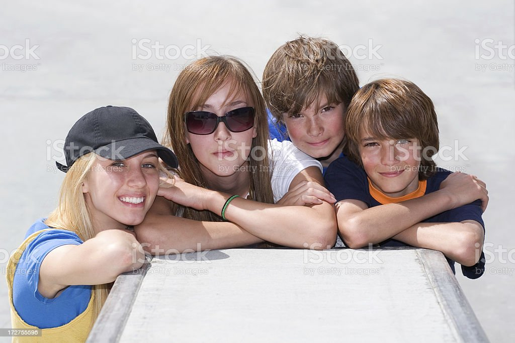Four Cool Kids royalty-free stock photo