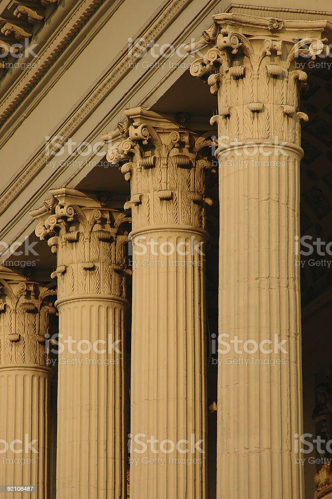 Four Corinthian Columns royalty-free stock photo