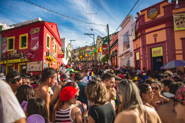 quatro cantos, olinda - pe - carnival stock photos and pictures