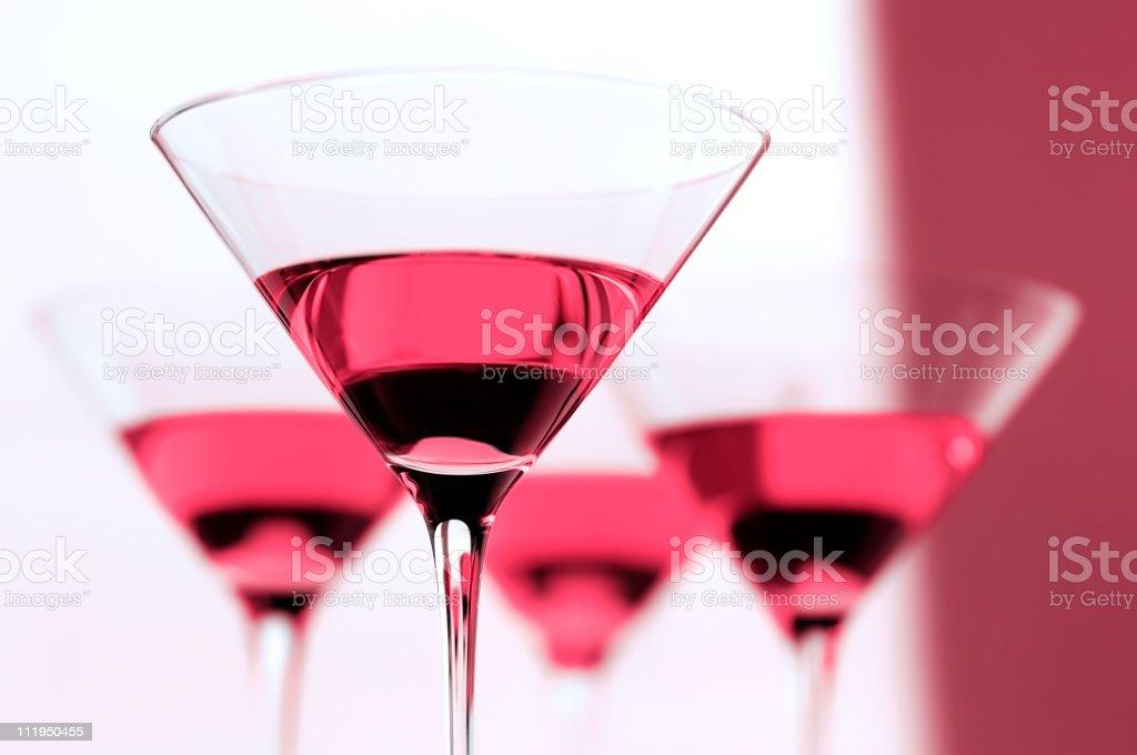 Four Cosmopolitan Martinis royalty-free stock photo
