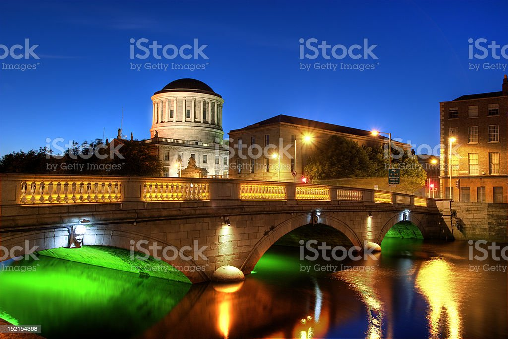 Four courts stock photo
