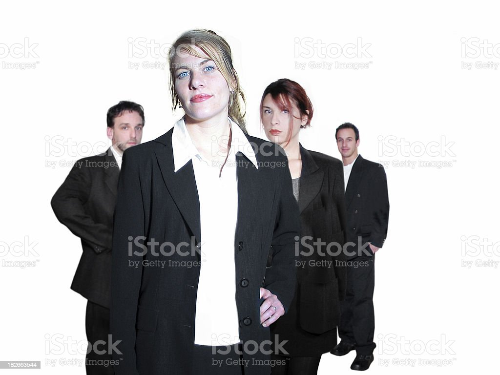 Four coworkers (isolated) royalty-free stock photo