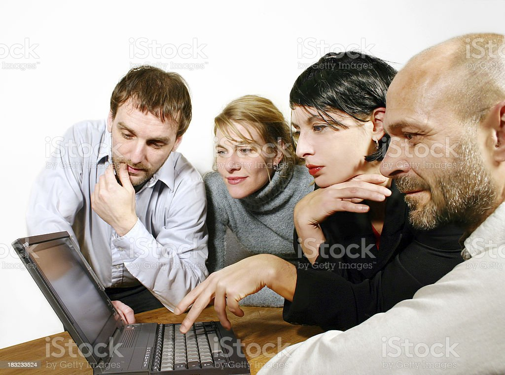 Four co-workers royalty-free stock photo