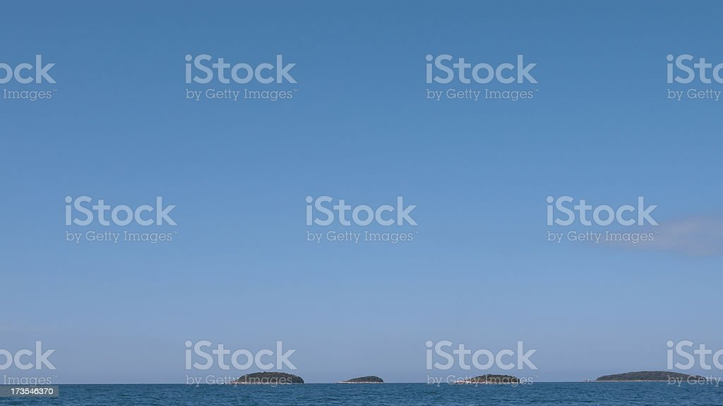 Four croatian islands stock photo