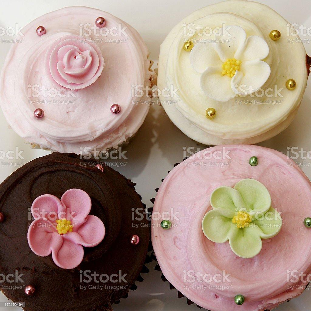 Four cupcakes royalty-free stock photo