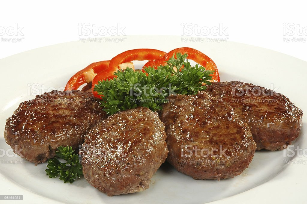four cutlets royalty-free stock photo