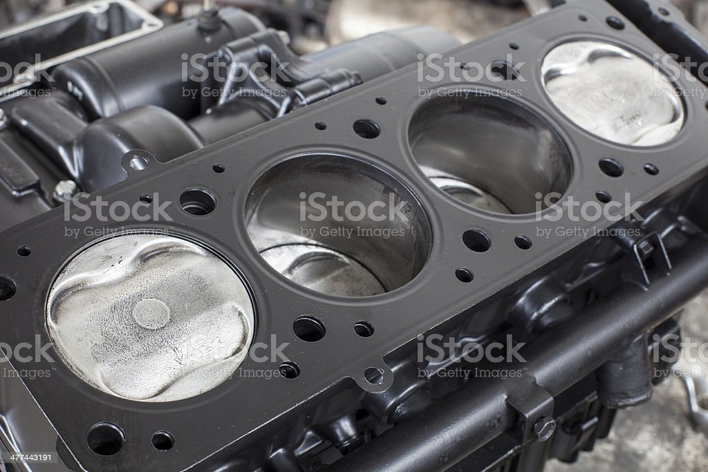 four cylinders stock photo