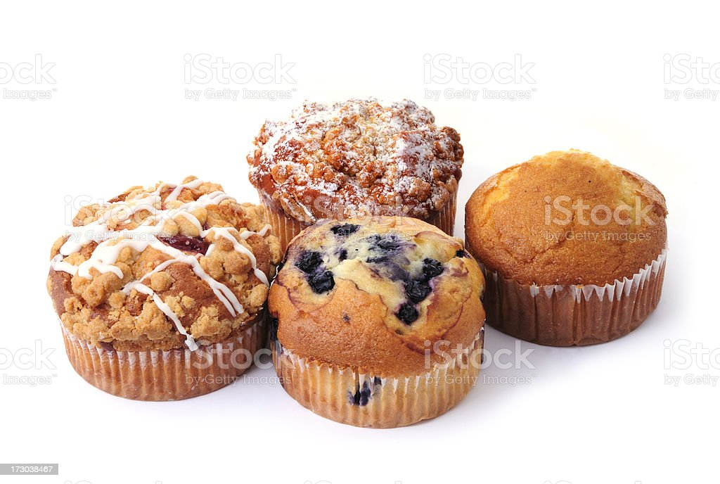 four delicious muffins royalty-free stock photo