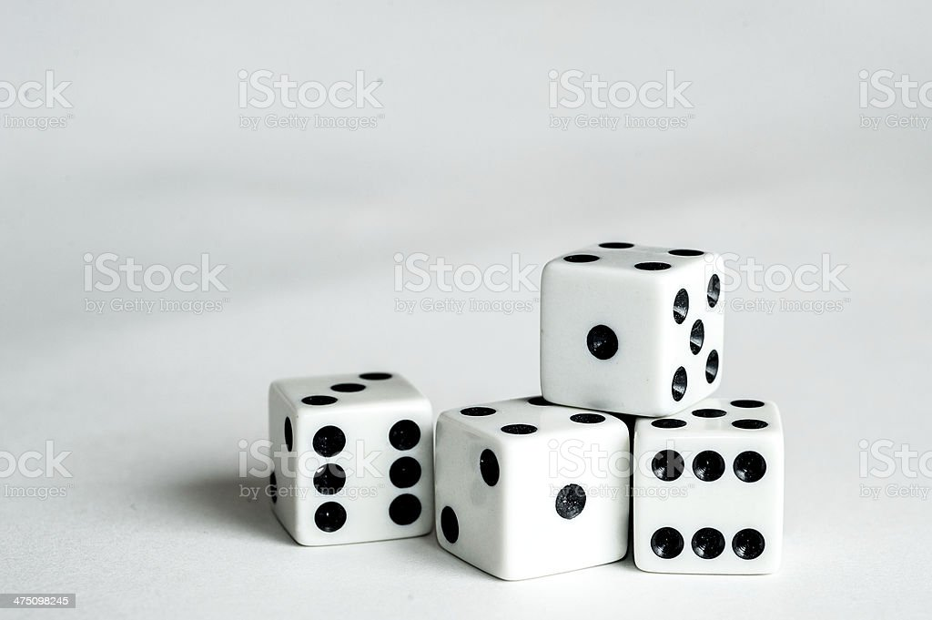 Four dice stock photo
