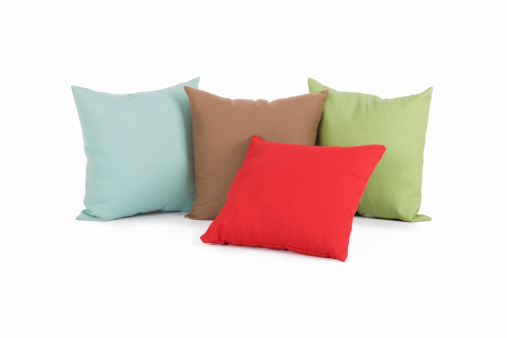 Throw Pillows shot on white with clipping path