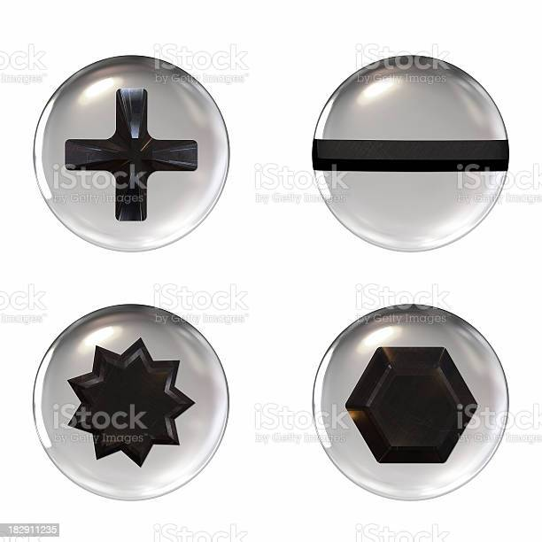 Four different shaped screw icons on a white background picture id182911235?b=1&k=6&m=182911235&s=612x612&h=uygxb3edjull ij3jdvhtjvzsnpfjwf9nadw1wev7go=
