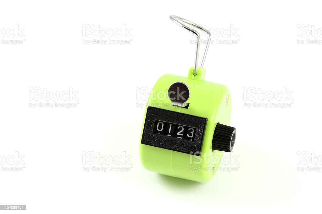 Four digits Hand Held Tally Counter stock photo