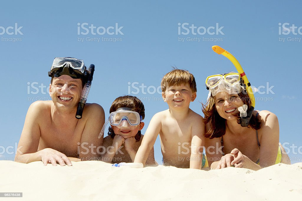 Four divers royalty-free stock photo