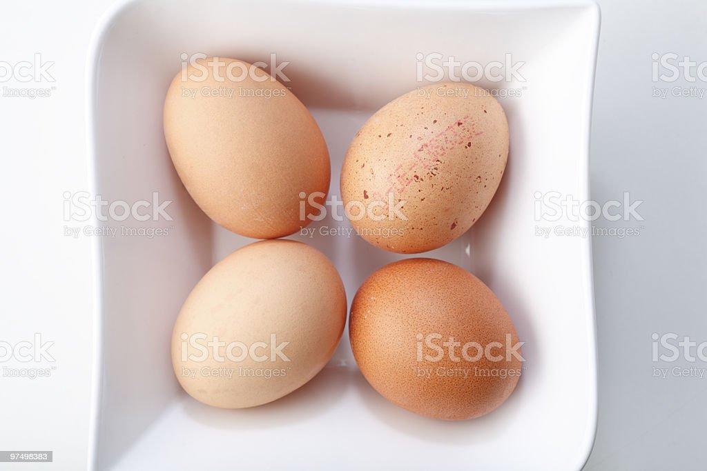 Four eggs royalty-free stock photo