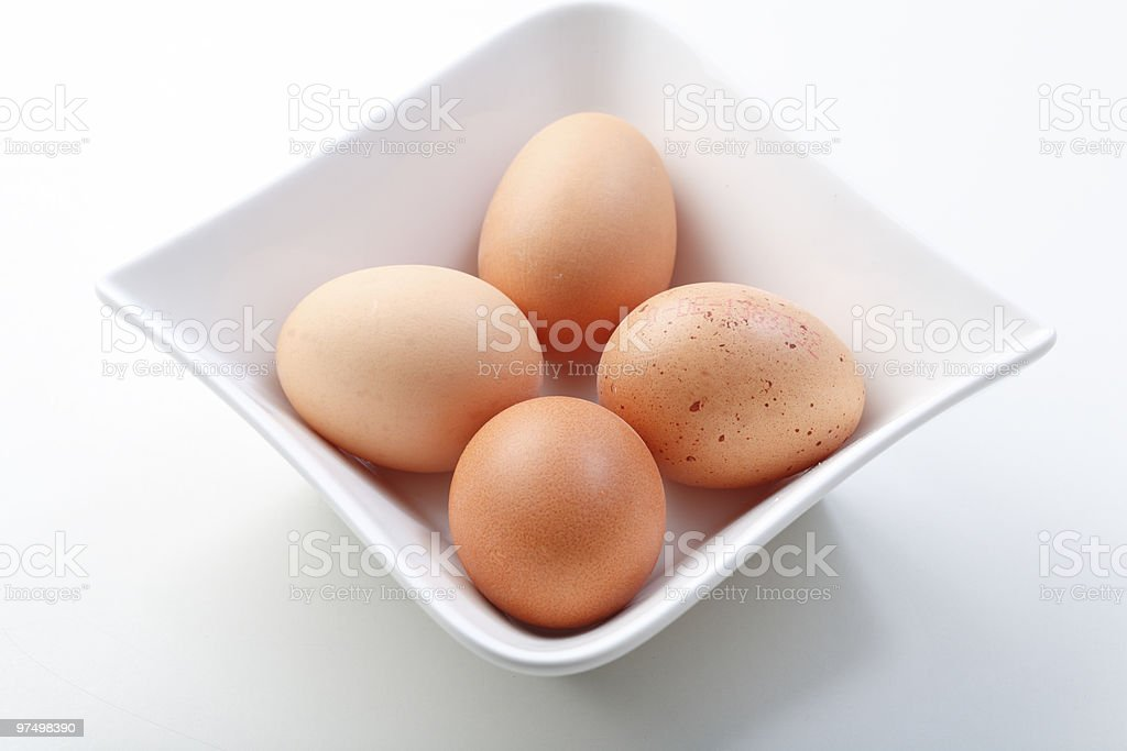 Four eggs royalty-free stock photo