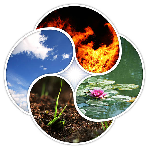 Four elements stock photo