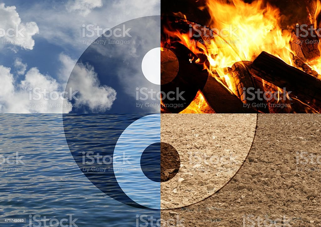 four elements royalty-free stock photo