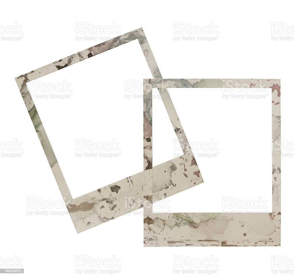 Four empty grunge frame royalty-free stock photo
