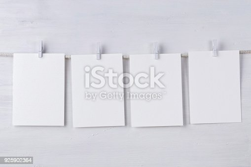 istock Four empty wotercolor paper cards 925902364