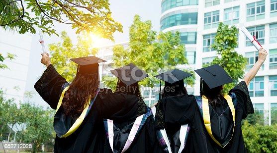 istock Four female graduates at campus 652712028