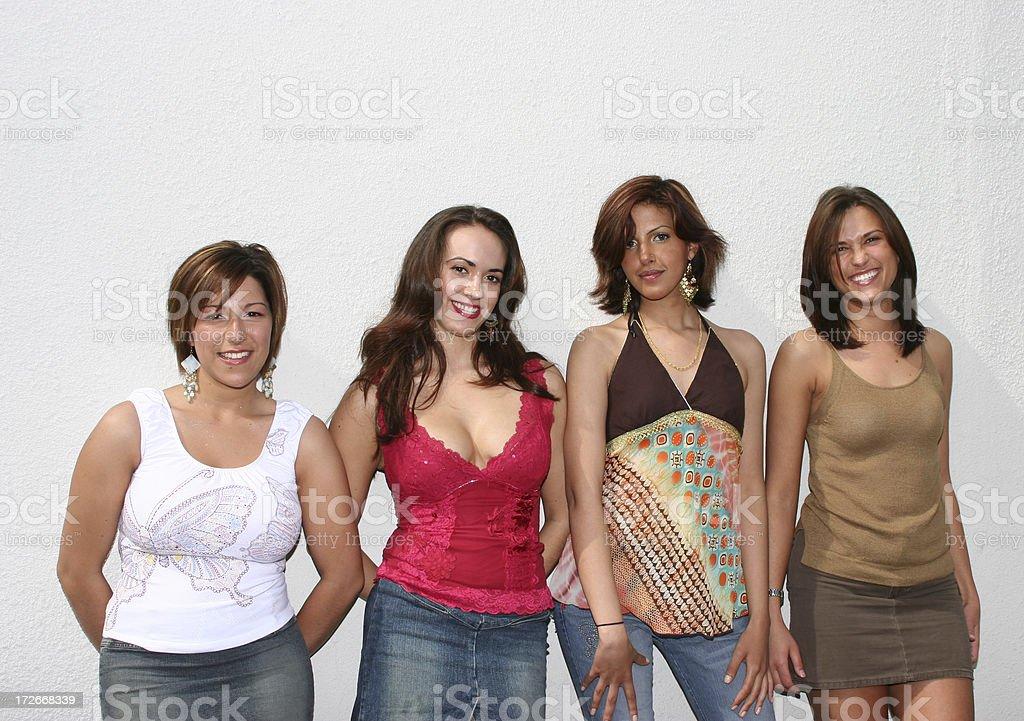 Four Females royalty-free stock photo