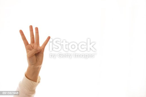 counting hand sign,image of a children'sfinger pointing