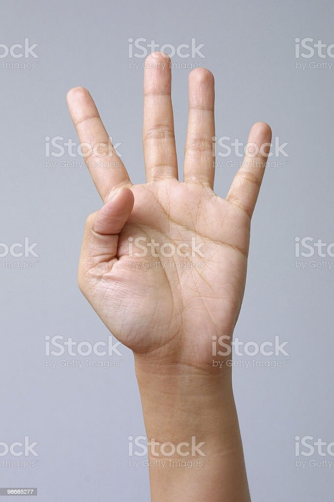 four fingers 2 royalty-free stock photo