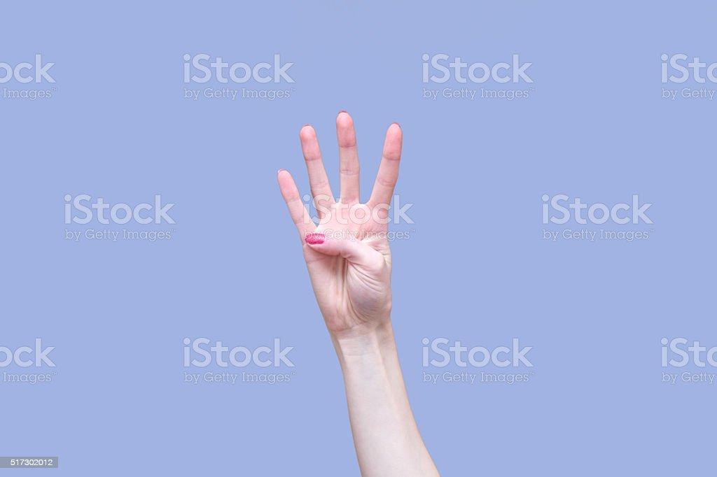 Four Fingers stock photo