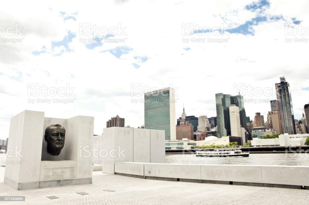 Four Freedoms Park, New York City stock photo