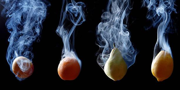 four fruits stock photo