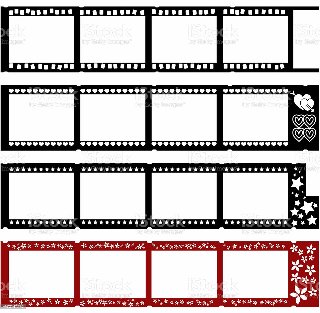 Four fun filmstrips royalty-free stock photo