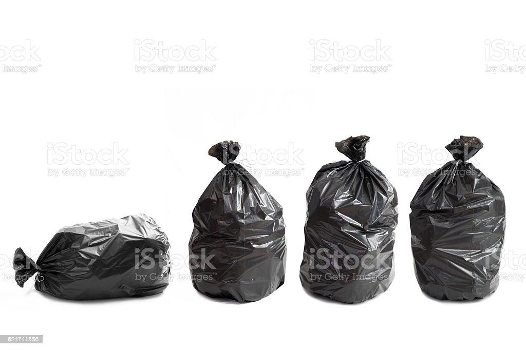 Four garbage bags royalty-free stock photo