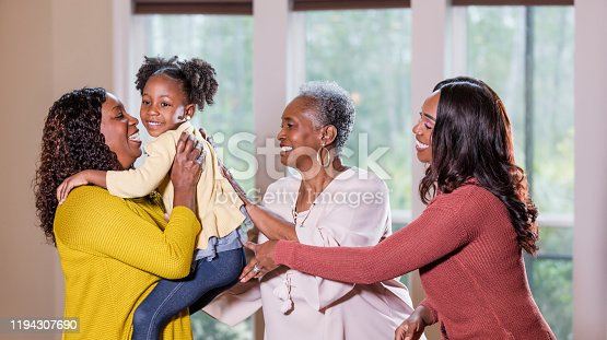 istock Four generation African-American family 1194307690