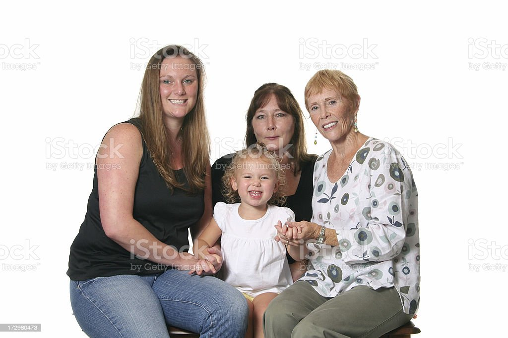 Four Generations of Family royalty-free stock photo