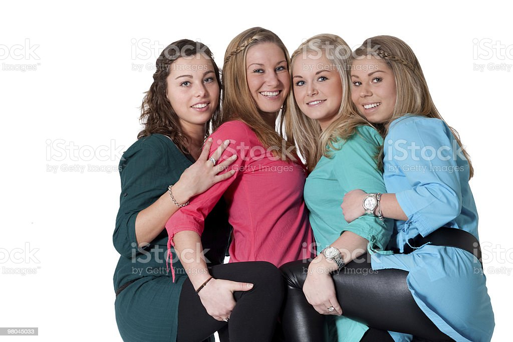 four girlfriends royalty-free stock photo