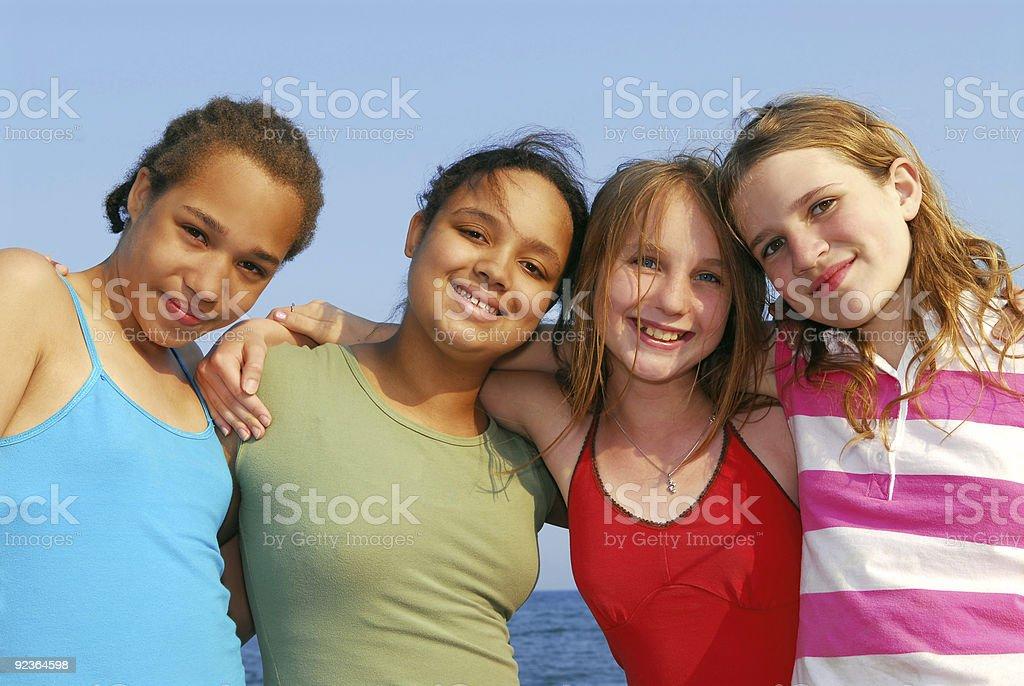 Four girls royalty-free stock photo