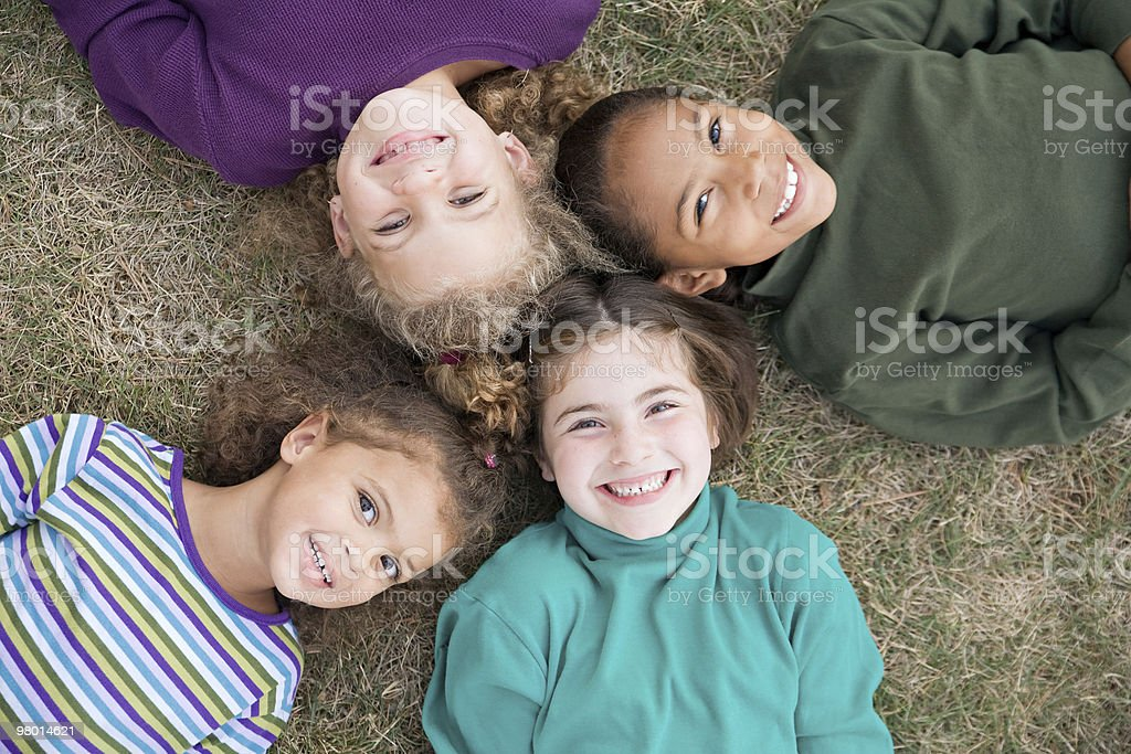 Four Girls Smiling royalty-free stock photo