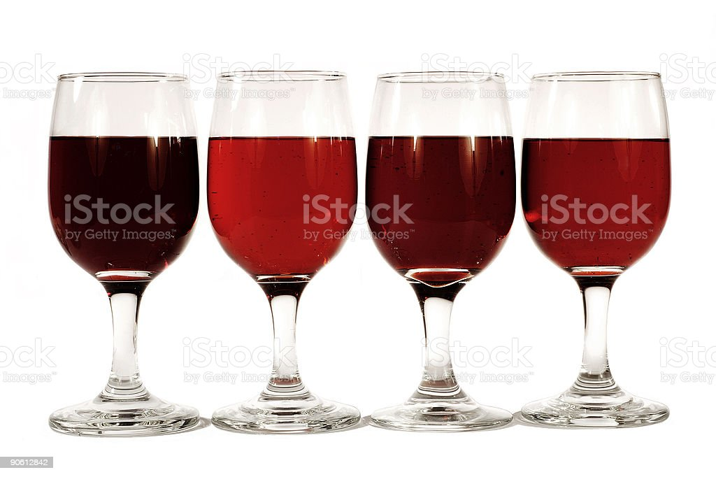four glasses of wine royalty-free stock photo